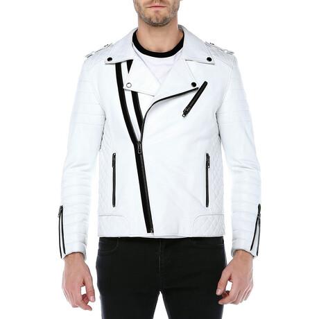 Zig Leather Jacket // White (XS)
