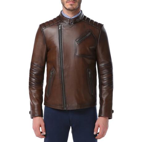 Zig Leather Jacket V4 // Camel (XS)