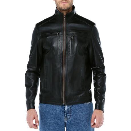 Zig Leather Jacket V4 // Black (XS)