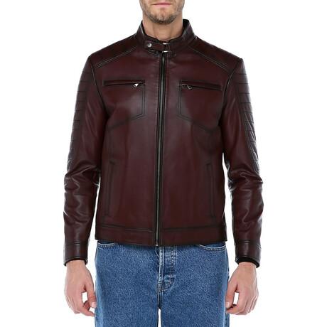 Zig Leather Jacket V2 // Red (XS)