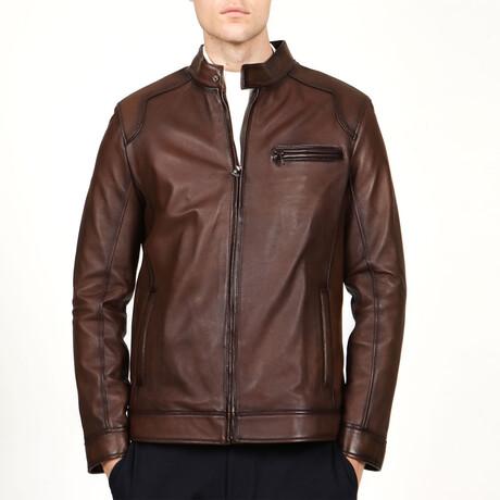 Zig Leather Jacket V5 // Camel (XS)