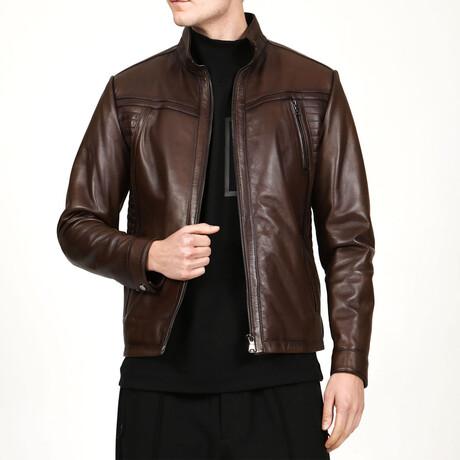 Zig Leather Jacket V7 // Camel (XS)