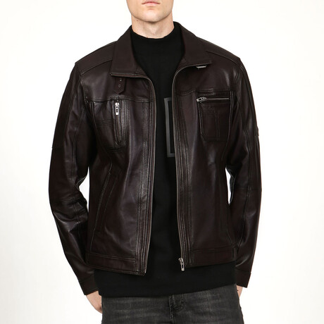 Zig Leather Jacket V1 // Chestnut (XS)