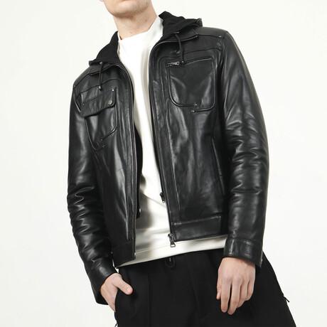Zig Leather Jacket V2 // Black (XS)