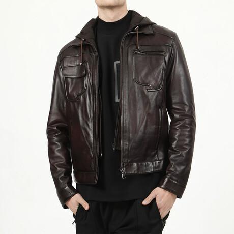 Zig Leather Jacket V2 // Chestnut (XS)