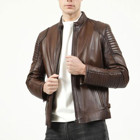 Zig Leather Jacket V3 // Camel (XS)