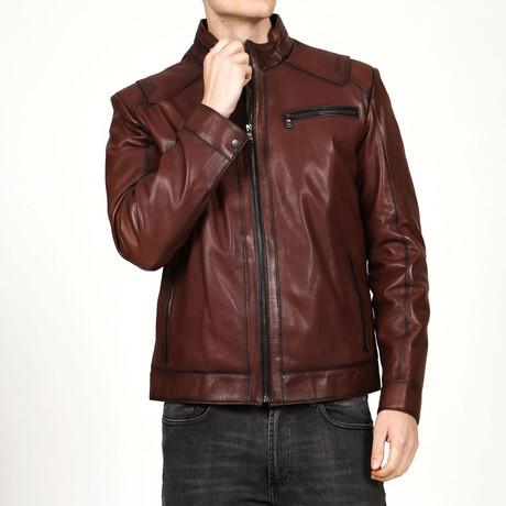 Vejetal Leather Jacket V2 // Red (XS)