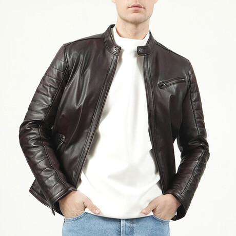 Zig Leather Jacket V3 // Chestnut (XS)