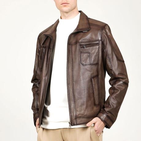 Zig Leather Jacket // Mink (XS)
