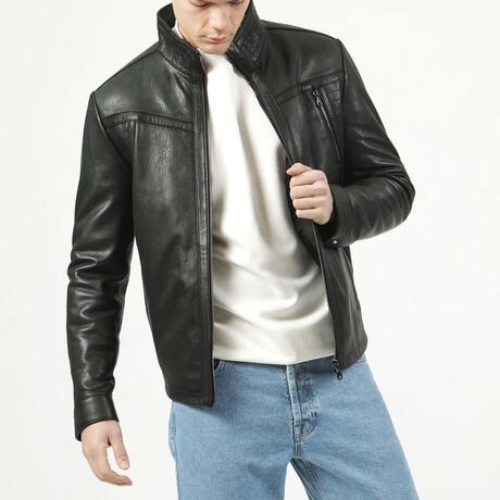 Jumbo Leather Jacket V3 // Green (XS)