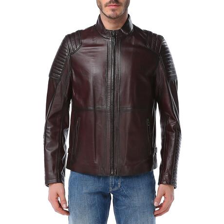 Zig Leather Jacket V1 // Red (XS)