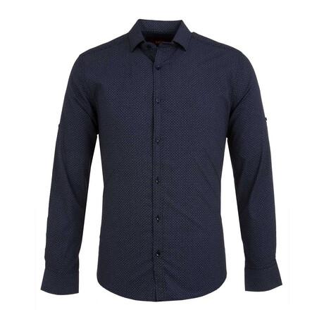 Lewis Long Sleeve Button Up Shirt // Dark Blue (S)