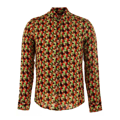 Logan Long Sleeve Button Up Shirt // Orange (S)