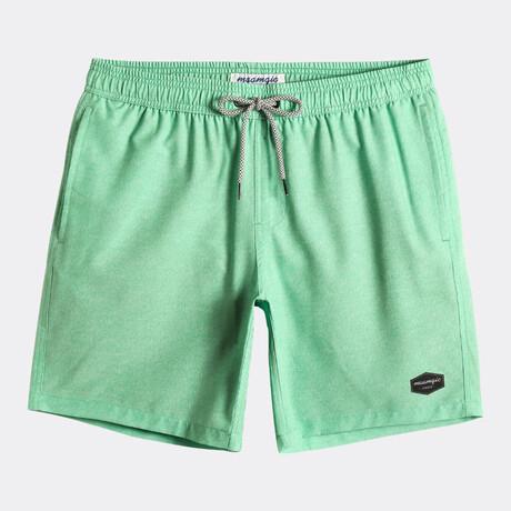 """Chad 7"""" Swim Trunks // 4 Way Stretch // Green (XS)"""
