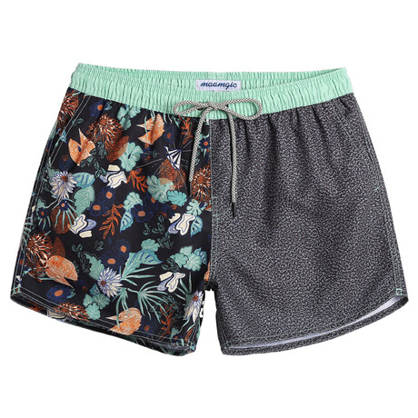 "Sean 4.5"" Swim Trunks // Split Design Vintage Floral // Multicolor (XS)"