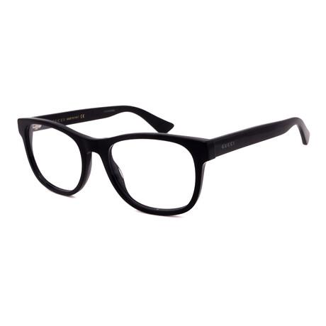 Gucci // Men's GG0004O-001 Square Optical Frames // Black + Black