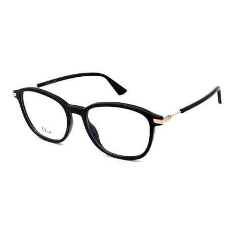 Dior // Unisex DIOR ESSENCE 7-807 Square Optical  Frames // Black