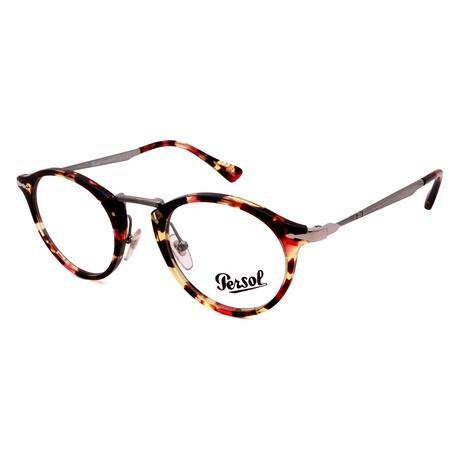 Persol // Unisex PO3167V-1059 Round Optical Frames // Havana Rose Brown