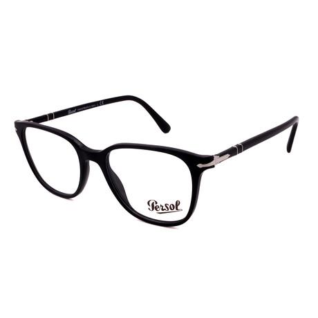 Persol // Men's PO3203V-95 Square Optical Frames // Dark Havana