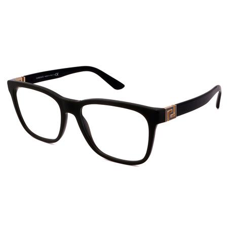 Versace // Unisex VE3243-5193 Square Optical Frames // Green + Black