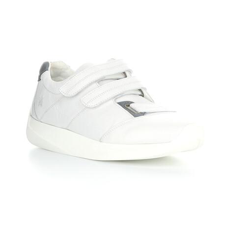LECK732FLY Velcro Sneaker // White + Blue Gray (EU Size 40)