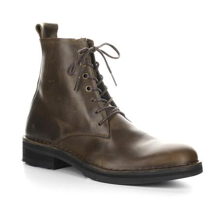 ROZE015FLY Lace Up Boot // Olive (EU Size 43)