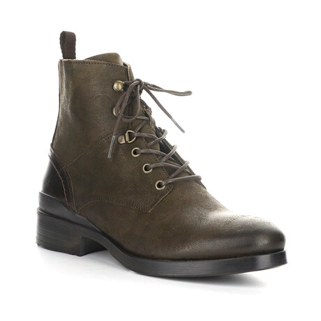 MOGO505FLY Lace Up Boot // Military Green + Dark Brown (EU Size 40)