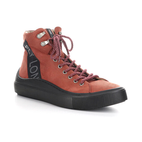 SENO340FLY Sporty Chukka Sneaker // Bordeaux + Black (EU Size 42)