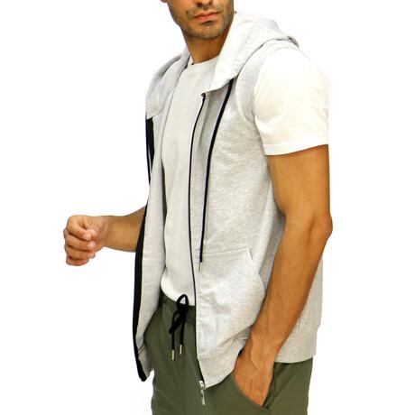 Calvin Short Sleeve Hooded Vest // Gray (S)