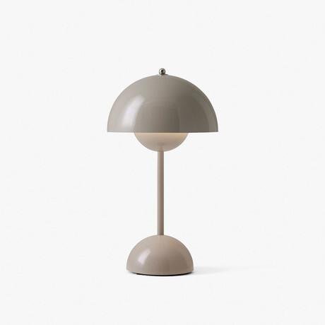 Flowerpot Portable LED Table Lamp // Gray + Beige