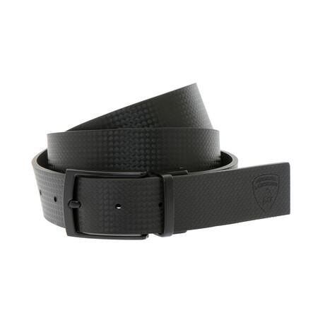 Emiliano Textured Belt // Black (XS)