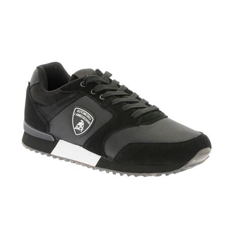 Fabio Lace-Up Tennis Shoes // Black + Gray (Euro: 40)