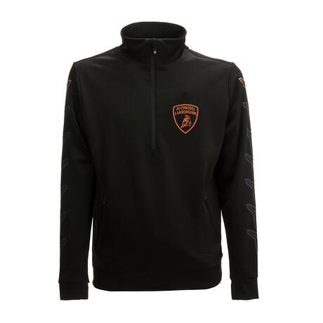 Aldo Half-Zip Pullover // Black (XS)