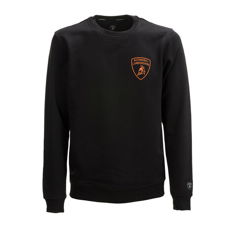Bruno Logo Crewneck Sweater // Black + Orange (XS)
