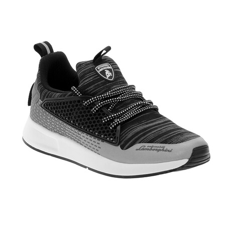 Stefano Lace-Up Trainers // Gray Melange (Euro: 40)