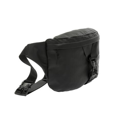 Front-Buckle Minimalist Logo Waist Bag