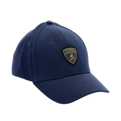 Chrome Logo Baseball Cap // Blue