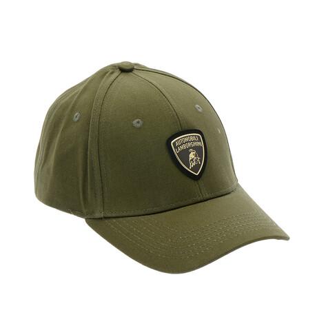 Chrome Logo Baseball Cap // Slate Green