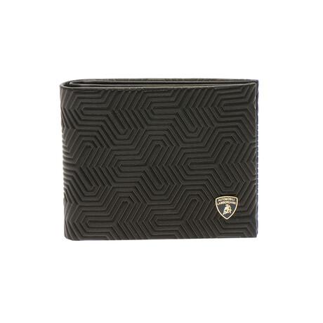 Logo Textured Bi-Fold Wallet
