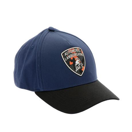Colorblock Logo Baseball Cap // Blue + Black