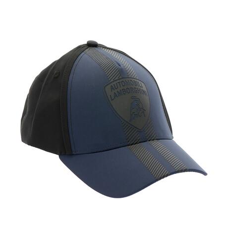 Colorblock Logo Baseball Cap // Navy + Black
