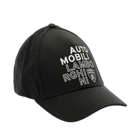 Graphic Baseball Cap // Black