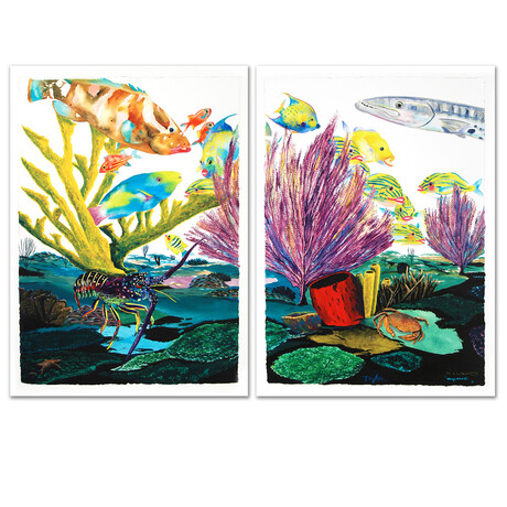 Coral Reef Life Diptych