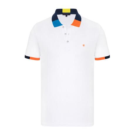 Denmark Short Sleeve Polo Shirt // White + Black (S)