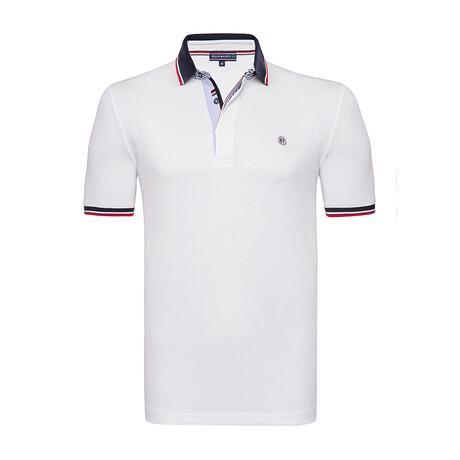 Capri Short Sleeve Polo Shirt // White (S)