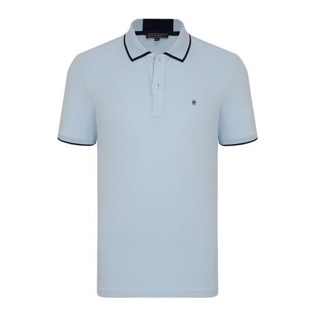 Paris Short Sleeve Polo Shirt // Blue + Navy (S)