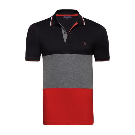Hamburg Short Sleeve Polo Shirt // Black (S)