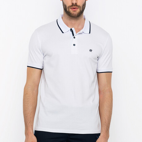 Belize Short Sleeve Polo Shirt // White (S)