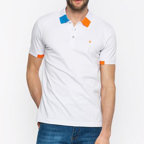 Prague Short Sleeve Polo Shirt // White (S)