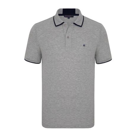 Valencia Short Sleeve Polo Shirt // Gray + Navy (S)